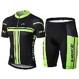 INBIKE Radtrikot Set für Herren Fahrradbekleidung Kurzarm mit Radhose(L)
