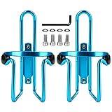 Reehut Fahrrad Flaschenhalter Ultraleichter Robuster Aluminium Getränkehalter für Outdoor-Aktivitäten - 2er Pack