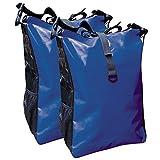 Fahrradtasche für den Gepäckträger aus LKW-Plane 2 Stück mit Farbauswahl ( blau/schwarz )