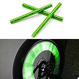 Fahrradzubehör sunnymi 24pcs Reflektierende Warnstreifen Schlauch Radfahren Fahrrad Rad Speichen Reflektor Clips (Grün)