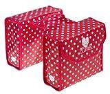 Fahrradtasche Doppelpacktasche rot mit Punkten Lillebi von Bike Fashion