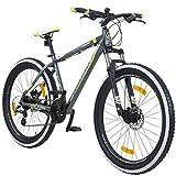 Galano 650B+ 27,5+ Zoll MTB INFINITY Mountainbike Scheibenbremsen Shimano 27,5x3.0 Fatbike, Farbe:grau/grün