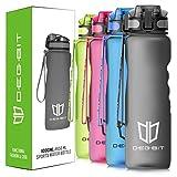 Trinkflasche, Degbit [BPA Frei Tritan] 1L/650/500/350ML Auslaufsicher Kunststoff Wasserflaschen Sport, Flip Top Öffnet mit 1-Klick, Sportflasche Fahrrad Flasche für Kinder
