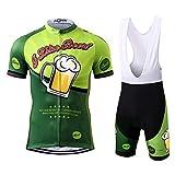 Thriller Rider Sports Herren I Like Beer Sport & Freizeit MTB Fahrradbekleidung Radtrikot und Trägerhose Anzüge 2X-Large