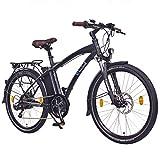 NCM Essen 36V 26' Zoll Urban City E-Bike, 250W Bafang Heckmotor, 13Ah 468Wh Li-Ion Akku, Shimano Nexus 7 Gang Schaltung, Matt Schwarz (Matt Schwarz 26')