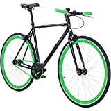 Galano 700C 28 Zoll Fixie Singlespeed Bike Blade 5 Farben zur Auswahl, Rahmengrösse:56 cm, Farbe:schwarz/grün