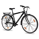 KCP 28' Citybike Herren TREKKINGRAD ALU Fahrrad Ara mit 21 Gang Shimano ACERA Schwarz - 71,1 cm (28 Zoll)
