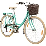 Galano 28 Zoll Valencia 6 Gang Citybike Stadt Fahrrad Damenrad Damenfahrrad, Rahmengrösse:19 Zoll, Farbe:türkis