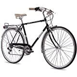 28' Zoll NOSTALGIE CITYRAD CITY BIKE HERRENRAD CHRISSON VINTAGE CITY GENT 6S SHIMANO SCHWARZ 2017