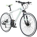 Galano 26 Zoll Toxic Mountainbike Hardtail MTB Jugendmountainbike Jugendfahrrad, Farbe:Weiss/Grün, Rahmengrösse:42 cm