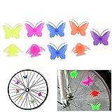 Broadroot Perlen für Fahrrad-Speichen, farbenfrohe Dekoration für Räder, aus Kunststoff, für Kinder FISH+BUTTERFLY