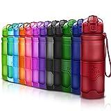 ZOUNICH Sport Trinkflasche BPA frei Auslaufsicher Wasserflasche 400ml/500ml/700ml/1L Kunststoff Geeignet Sporttrinkflaschen für Joggen,Fahrrad,Kinder Schule,öffnen mit Einer Hand Trinkflaschen Filter