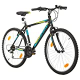26 Zoll Bikesport Active Fahrrad Mountainbike MTB Herrenfahrrad Shimano 18 Gang (Schwarz Matt Blau Grün, L)