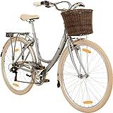 Galano 28 Zoll Valencia 6 Gang Citybike Stadt Fahrrad Damenrad Damenfahrrad, Farbe:Silber, Rahmengrösse:19 Zoll