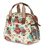 Basil Mädchen Fahrradschultertasche Bloom Girls-Carry All Bag Fahrradtasche, White, 25 x 14 x 25 cm