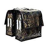 IKURI Fahrradtasche Wasserdicht - Große Radtasche für den Gepäckträger mit Schultergurt für Damen Wasserfeste Gepäckträgertasche Packtasche Satteltasche Umhängetasche -Design Eden Gold