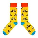 CUP OF SOX - Bikes/Fahrrad / Hipster - Socken in der Tasse - Herren und Damen Geschenksocken Freizeit Socken (41-44)