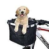 ANZOME Fahrradtaschen am Lenker für Mountainbike MTB Frontrahmen Tube Lenker Bike Basket Unisex Fahrradtasche, faltbares abnehmbares Haustier-kleines Tier-Hundekatze-Kaninchen-Reise-Einkaufen