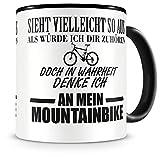 Samunshi Ich denke an mein Mountainbike Tasse Kaffeetasse Teetasse Kaffeepott Kaffeebecher Becher