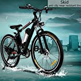 AIMADO 36 V 26 Zoll Elektrofahrrad 8Ah Lithium-Ionen-Akku, E-Bike 250W Heckmotor,21 Gang Shimano Gangschaltung Citybike Pedelec
