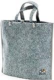 BIKEZAC Clip-On EINKAUFS-FAHRRADTASCHE | Einseitige Einkaufstasche | Gepäckträgertasche | Faltbar | Wasserabweisend | Trageschlaufen | Ökologisch, BikeZac:Delux Gray