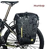 Huntvp Fahrradtasche 14/25/26L Wasserdicht Gepäckträgertasche, Fahrrad Hintsitz Trunkbag Satteltasche, Hochwertig Reparaturset mit Schultergurt und Reflektierendes Schild