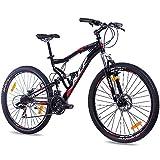27,5' Zoll Mountainbike Fahrrad KCP Attack Unisex mit 21 Gang Shimano TX schwarz